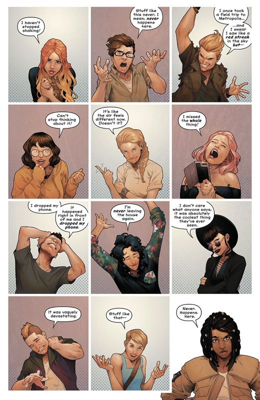 Naomi #1 art by Jamal Campbell and letterer Josh Reed