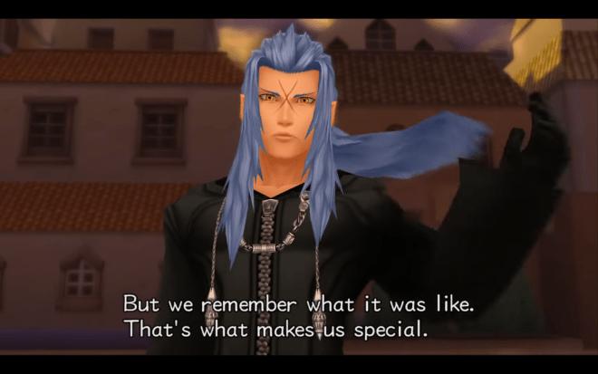 Saïx's introduction in Kingdom Hearts II