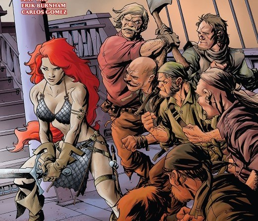 Red Sonja #25 cover by Mike McKone