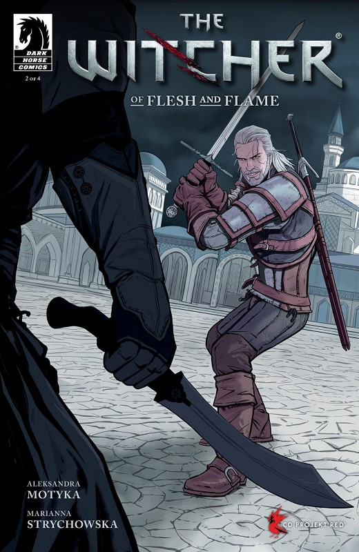 The Witcher: Of Flesh and Flame #2 cover by Marianna Strychowska