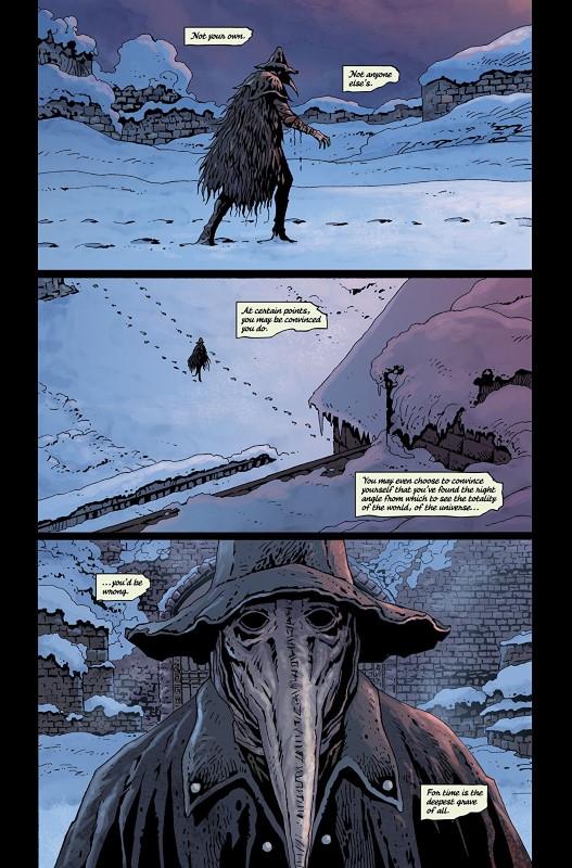 Bloodborne #9 art by Jeff Stokely, Brad Simpson, and letterers Aditya Bidikar and Jim Campbell