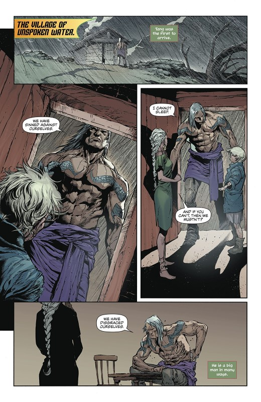 Aquaman #46 art by Robson Rocha, Daniel Henriques, Sunny Gho, and letterer Clayton Cowles