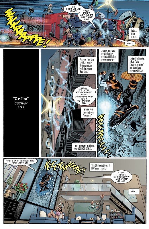 Deathstroke #41 art by Fernando Pasarin, Cam Smith, Sean Parsons, Jeromy Cox, Carrie Strachan, and letterer Willie Schubert