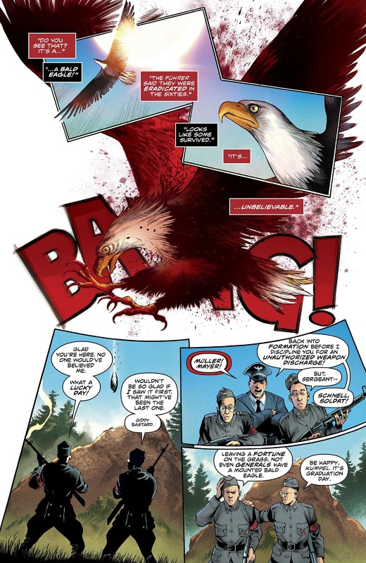 Freedom Fighters #4 art by Eddy Barrows, Eber Ferreira, Adriano Lucas, and letterer Andworld Design