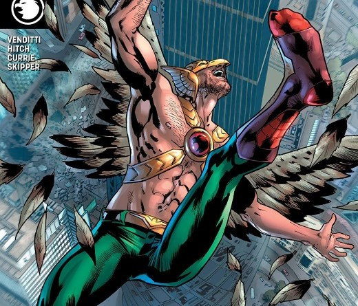 Hawkman #10 cover by Bryan Hitch and Alex Sinclair