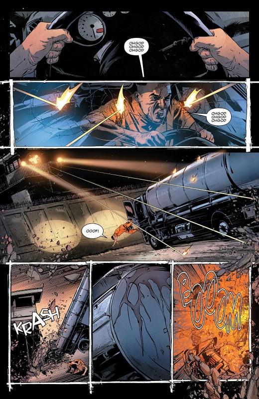The Punisher #9 art by Szymon Kudranski, Antonio Fabela, and letterer VC's Cory Petit