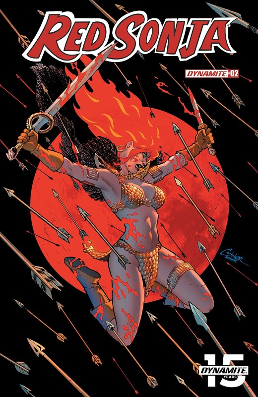 Red Sonja #2 cover by Amanda Conner and Paul Mounts