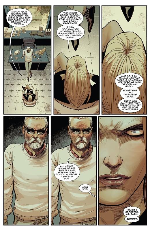 Captain America #9 art by Adam Kubert, Frank Martin, and letterer VC's Joe Caramagna
