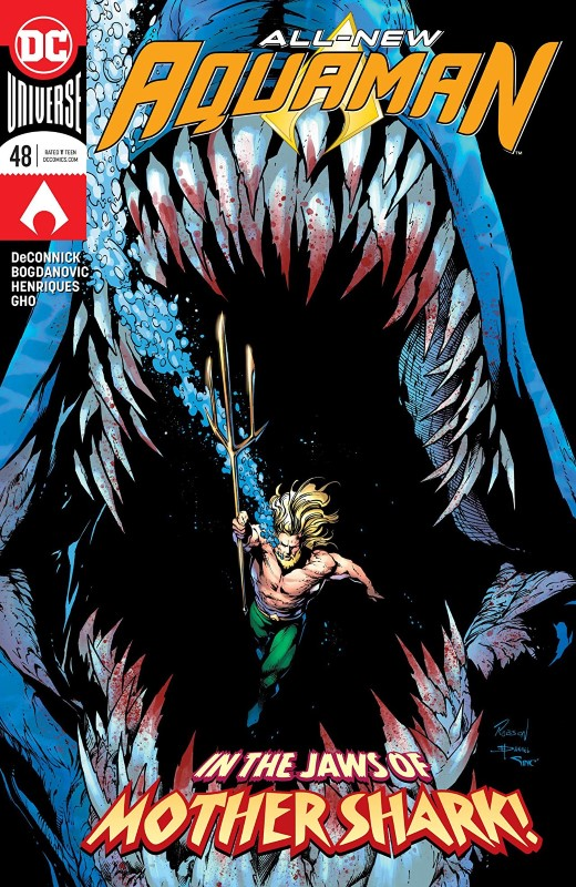 Aquaman #48 cover by Robson Rocha, Daniel Henriques, and Alex Sinclair
