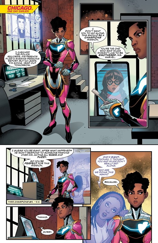 Ironheart #6 art by Kevin Libranda, Matt Milla, and letterer VC's Clayton Cowles