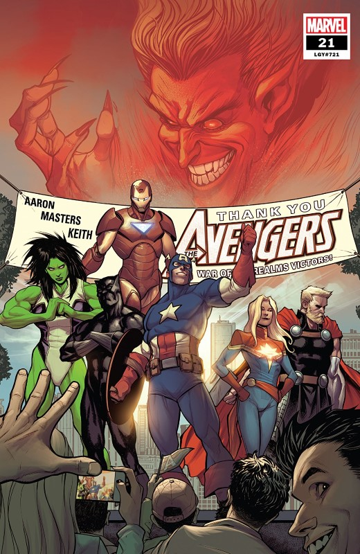 Avengers #21 cover by Stefano Caselli and Frank Martin