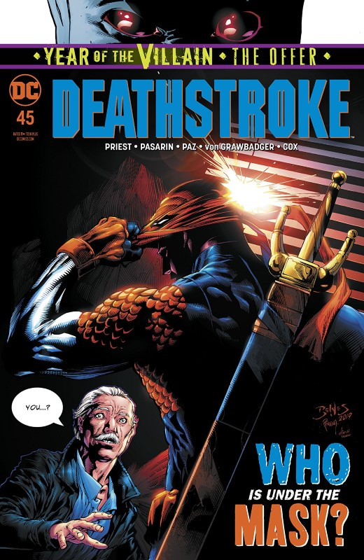 Deathstroke #45 cover by Ed Benes, Richard Friend, and Dinei Ribeiro