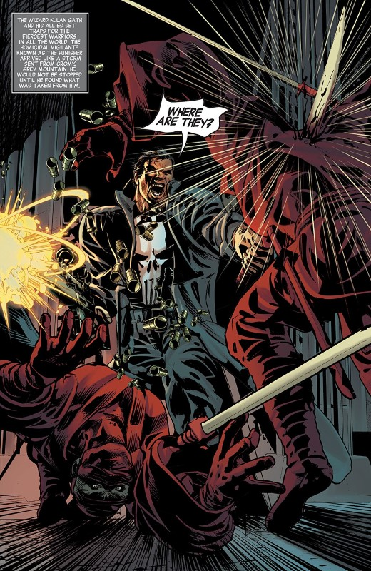 Savage Avengers #3 art by Mike Deodato Jr., Frank Martin, and letterer VC's Travis Lanham
