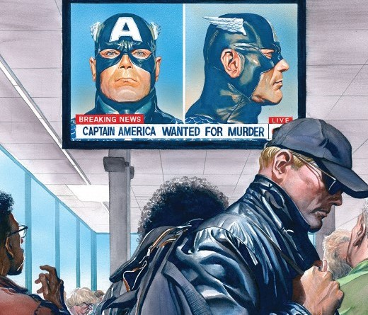 Captain America #13 cover by Alex Ross