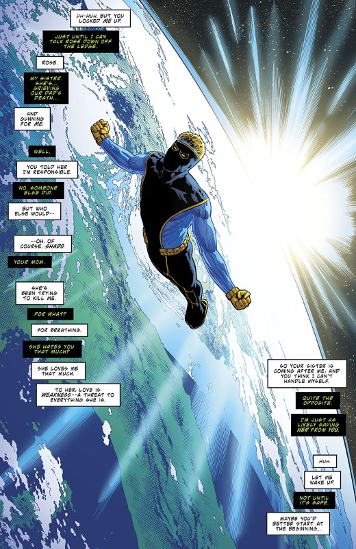 Deathstroke #46 art by Fernando Pasarin, Cam Smith, Jeromy Cox, and letterer Willie Schubert