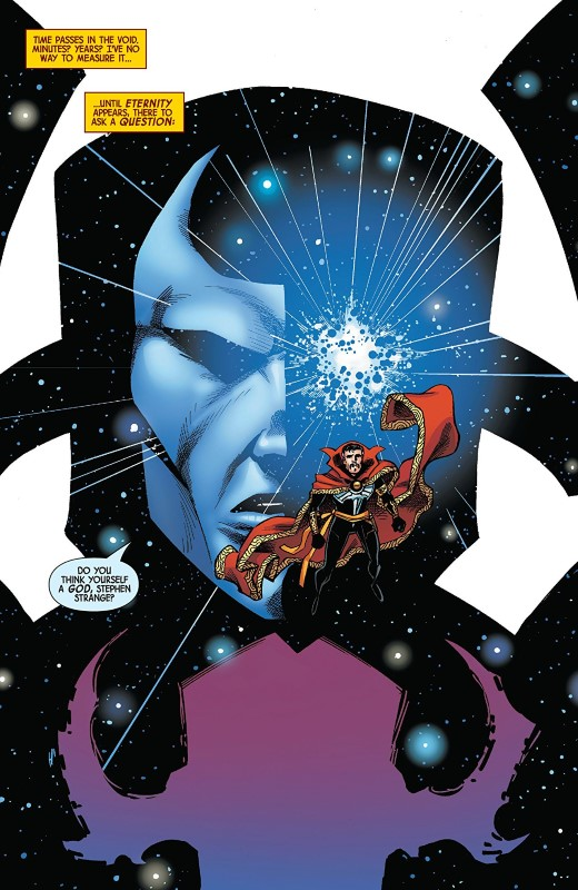 Doctor Strange #17 art by Barry Kitson, Scott Koblish, Brian Reber, and letterer VC's Cory Petit