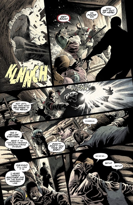 Freedom Fighters #8 art by Eddy Barrows, Jack Herbert, Eber Ferriera, and Adriano Lucas with letters from Andworld Design