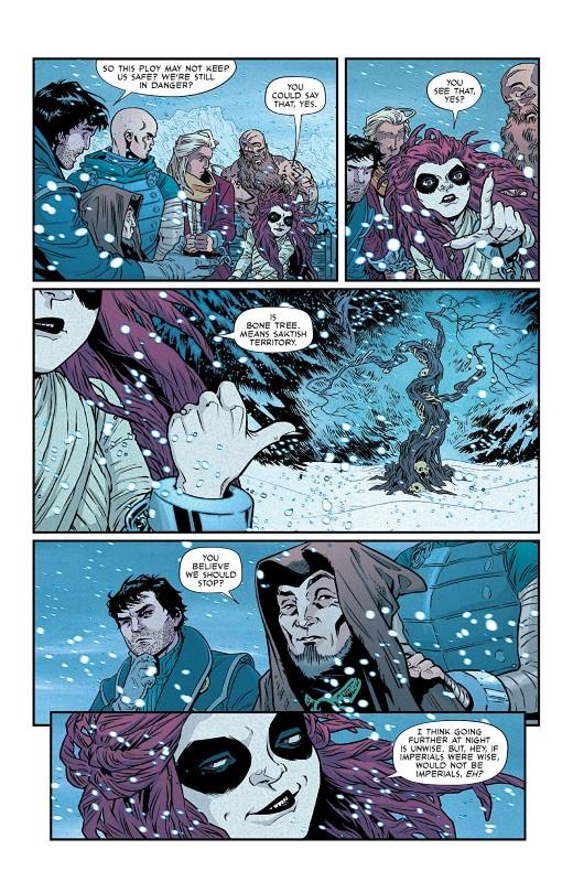 Reaver #2 art by Rebekah Isaacs, Alex Guimarães, and letterer Jon Moisan