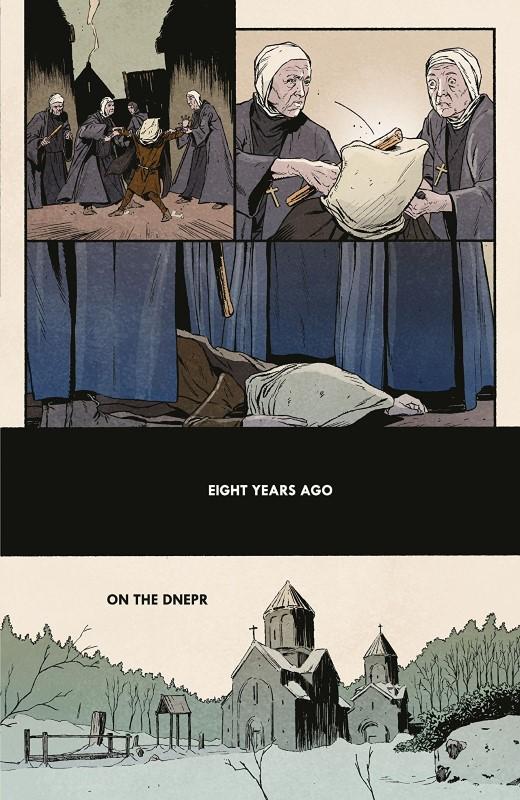 Sword Daughter #8 art by Mack Chater, José Villarrubia, and letterer Nate Piekos of Blambot