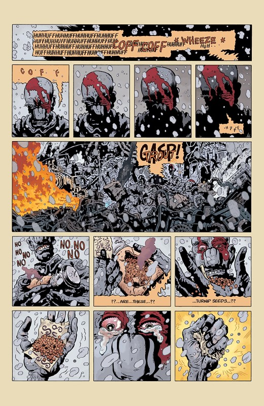 Trout: The Hollowest Knock #3 art by Troy Nixey and Dave Stewart with letters from Troy Nixey