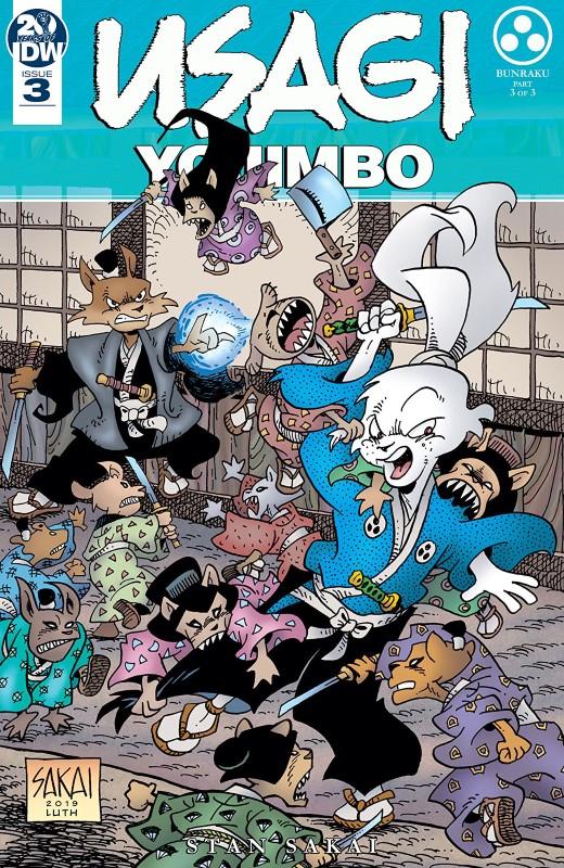 Usagi Yojimbo #3 cover by Stan Sakai