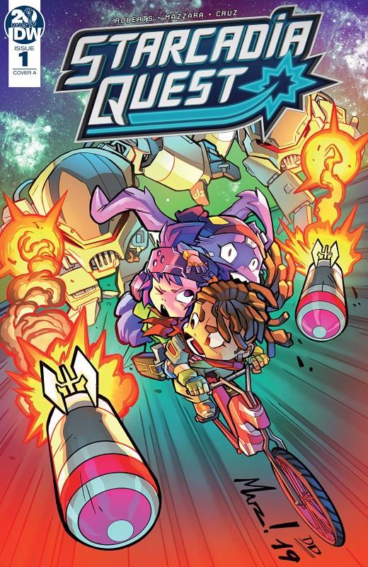 Starcadia Quest #1 cover by Aurelio Mazzara and David Garcia Cruz