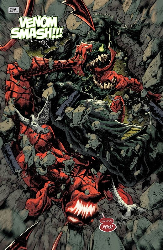 Absolute Carnage #4 art by Ryan Stegman, JP Mayer, Jay Leisten, Frank Martin, and letterer VC's Clayton Cowles