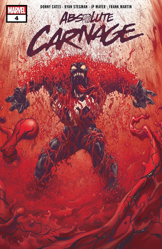 Absolute Carnage #4 cover by Ryan Stegman, JP Mayer, and Frank Martin
