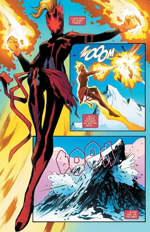 Captain Marvel #12 art by Lee Garbett, Tamra Bonvillain, and letterer VC's Clayton Cowles