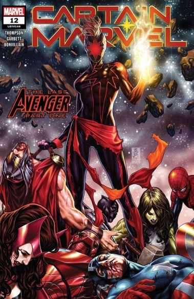 Captain Marvel #12 cover by Mark Brooks