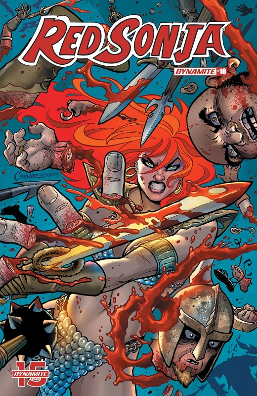 Red Sonja #10 cover by Amanda Conner and Paul Mounts