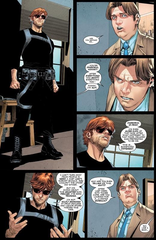 Daredevil #15 art by Marco Checchetto, Francesco Mobili, Nolan Woodard, Rachelle Rosenberg, and letterer VC's Clayton Cowles