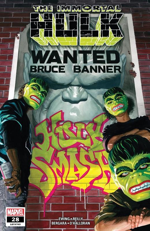 Immortal Hulk #28 cover by Alex Ross