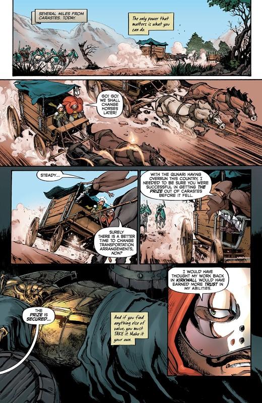 Dragon Age: Blue Wraith #1 art by Fernando Heinz Furukawa, Michael Atiyeh, and letterer Nate Piekos of Blambot