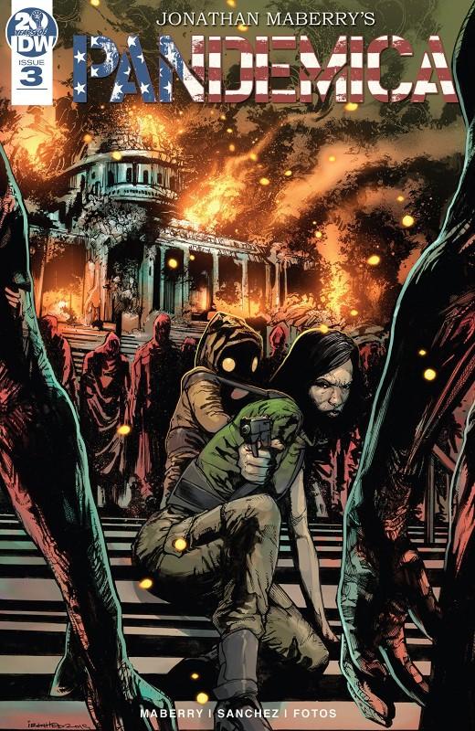 Pandemica #3 cover by Alex Sanchez and Jay Fotos