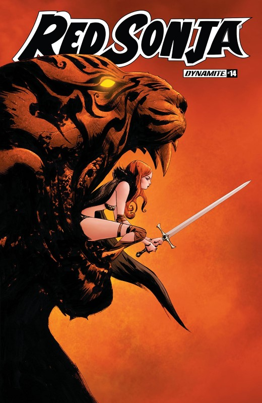 Red Sonja #14 cover by Jae Lee and June Chung