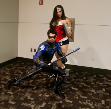 Nightwing and Wonder Woman