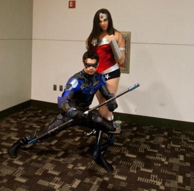 Nightwing and Wonder Woman