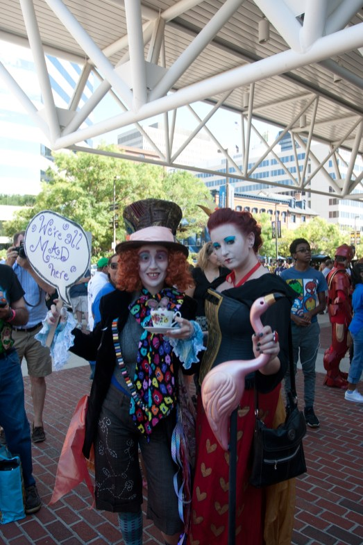 The Mad Hatter and Red Queen