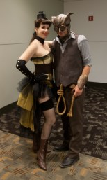 Steam Punk Silk Spectre and Nite Owl