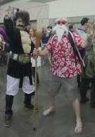 Master Roshi and Mr Satan (Hercule)