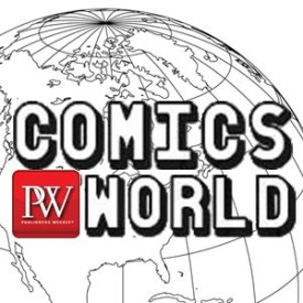 The logo of the PW Comics World More To Come podcast