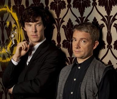 Benedict Cumberbatch & Martin Freeman as Holmes and Watson