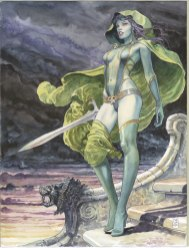 Issue #1 Milo Manara variant. At least you can't see her vajazzle.