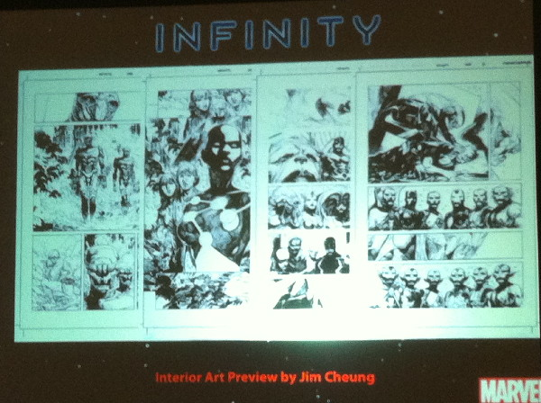 Some of Jimmy Cheung's art from Infinity.