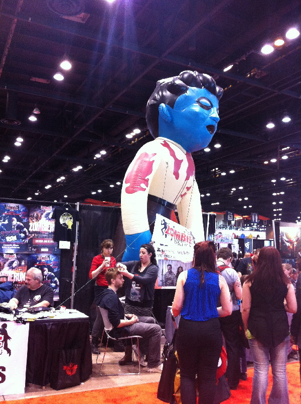 Dunno what this is.  A blue balloon and zombies.