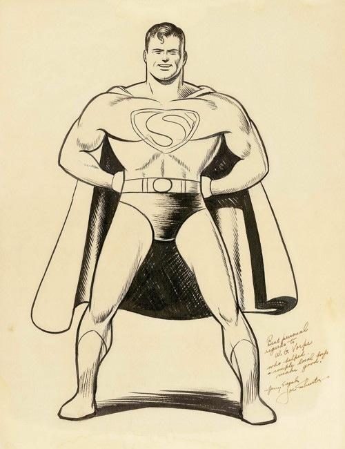 Joe Shuster - Original Superman Illustration (DC, 1940s).jpg