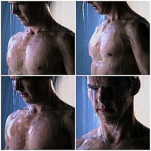 benedict cumberbatch shower scene