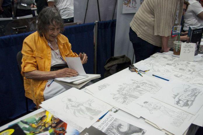 Ramona Fradon, SDCC2013, San Diego Comic Con, Aqualad creator, Brenda Starr, artist alley