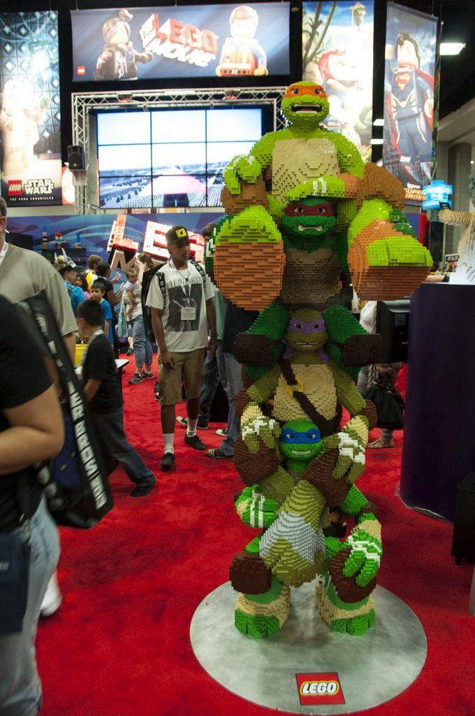 SDCC, SDCC2013, San Diego Comic Con, Lego, TMNT, Teenage Mutant Ninja Turtles